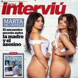 Aguasantas Vilches junto a su hermana en la portada de la revista Interviú