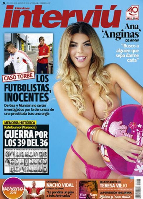 Ana Anginas ('MYHYV') posa desnuda en la portada de la revista Interviú