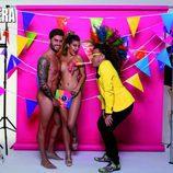 Bea y Rodri ('GH 17'), desnudos, durante la sesión de fotos para Primera Línea junto a Torito