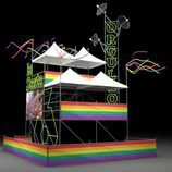 Set de laSexta en el World Pride Madrid 2017 visto en un lateral