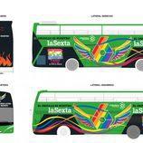 Autobús de laSexta para el World Pride Madrid 2017