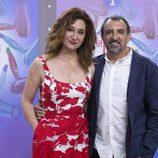 Juanjo Cucalón y Chiqui Fernández durante la presentación de 'La Pelu'