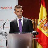 José Pablo López, director general de Telemadrid, hablando en público