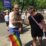 Actores de la serie 'Skam' durante el Oslo Pride