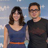 Berto Romero y Eva Ugarte durante la presentación de la serie 'Mira lo que has hecho' de Movistar +