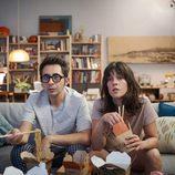 Berto Romero (Berto) y Eva Ugarte (Sandra) en 'Mira lo que has hecho'