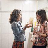 Eva Ugarte durante el rodaje de 'Mira lo que has hecho'