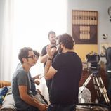 Berto Romero durante el rodaje de 'Mira lo que has hecho'