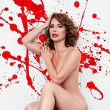 Vicky Larraz ('TCMS') posando desnuda para Primera Línea