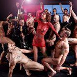 Vicky Larraz ('TCMS') posando desnuda en una sesión para Primera Línea