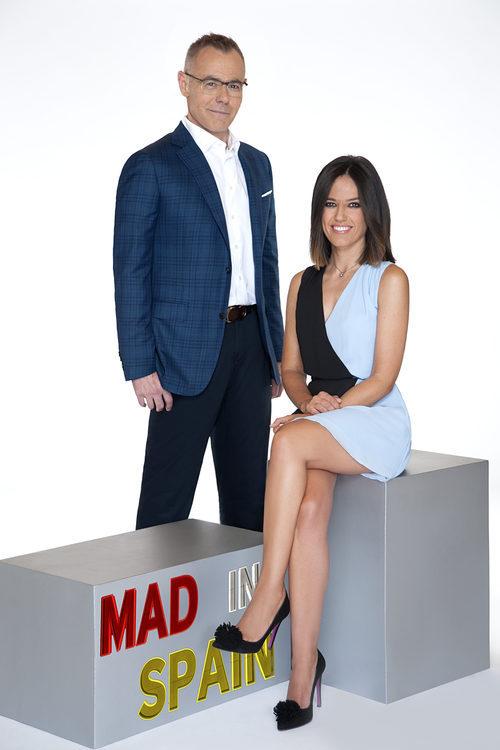 Jordi González y Nuria Marín, presentadores de 'Mad in Spain', posan en una imagen promocional