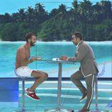 Iván González habla con Jorge Javier Vázquez en final de 'Supervivientes 2017'