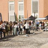 Los participantes en el casting de 'OT 2017' en Madrid esperan su turno