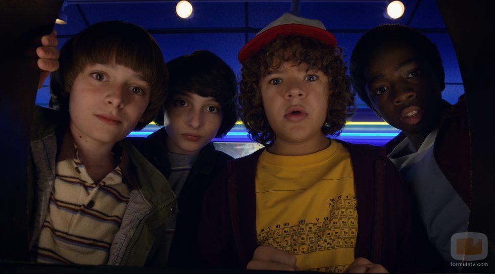 Dustin, Will, Lucas y Mike en la segunda temporada de 'Stranger Things'