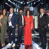 Jorge Cadaval, Yolanda Ramos, Santi Millán, Cristina Rodríguez y Jesús Vázquez en 'Me lo dices o me lo cantas'