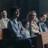 Los actores de 'Fariña' durante el rodaje de la serie