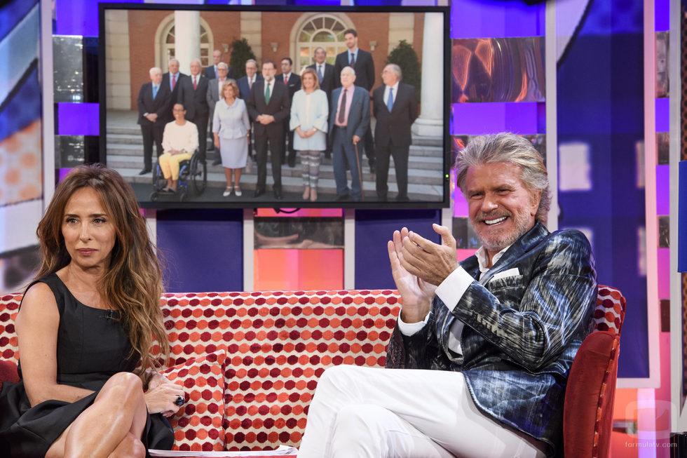 Edmundo Arrocet y María Patiño en 'Sábado Deluxe'