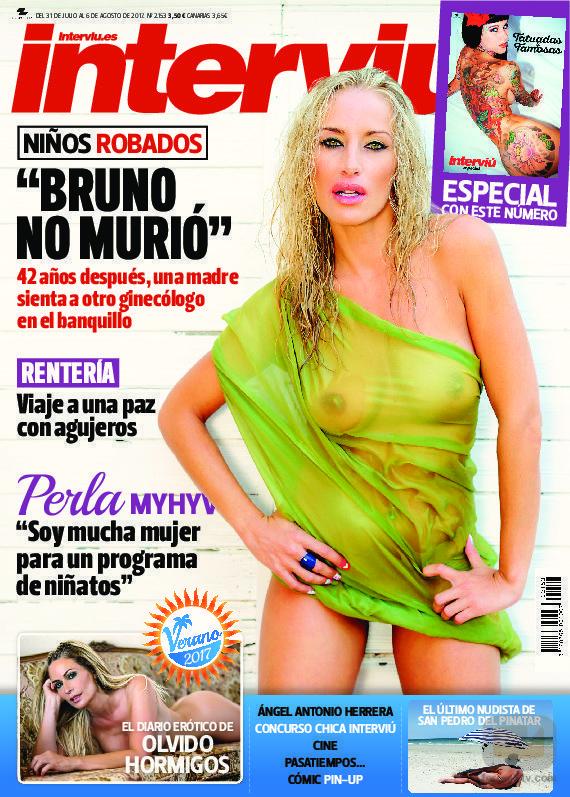 Perla ('Mujeres y hombres y viceversa') se desnuda para Interviú