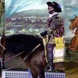 "Jorge Javier Vázquez disfrazado de ""El Conde Duque de Olivares a caballo"" en 'Sálvame'"