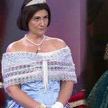 """Carlota Corredera disfrazada de """"Isabel II"""" en 'Sálvame'"""