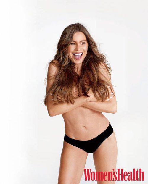 La actriz de 'Modern Family', Sofía Vergara, se muestra desnuda en la revista Women's Health