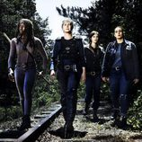 Danai Gurira, Melissa McBride, Lauren Cohan y Christian Serratos  en la 8ª temporada de 'The Walking Dead'