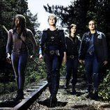 Danai Gurira, Melissa McBride, Lauren Cohan y Christian Serratos  en la 8ª temporada de 'The Walking Dead'