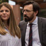 Manuela Velasco e Israel Elejalde en 'Traición', nueva serie de TVE