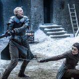 Brienne de Tarth y Arya Stark en el 7x04 de 'Juego de Tronos'