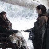 Bran Stark y Arya Stark en el 7x04 de 'Juego de Tronos'