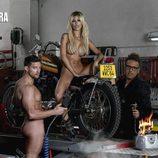 Oriana Marzoli y su novio, Luis Mateucci, desnudos junto a Torito en la revista Primera Línea
