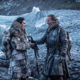 Jon Nieve y Jorah Mormont en el 7x06 de 'Juego de Tronos'