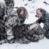Jorah Mormont y El Perro durante el 7x06 de 'Juego de Tronos'