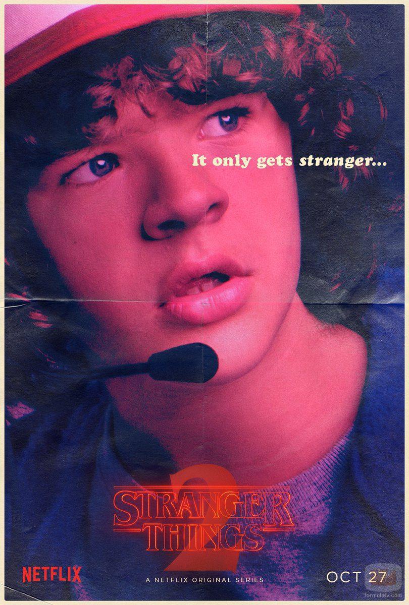 Cartel de Dustin Henderson en la segunda temporada de 'Stranger Things'
