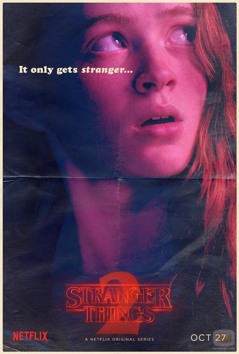Cartel de Max en la segunda temporada de 'Stranger Things'