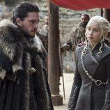 Jon Snow y Daenerys Targaryen en el 7x07 de 'Juego de Tronos'