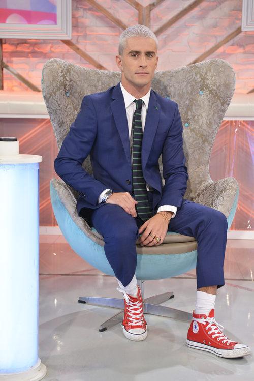Pelayo Díaz, en su silla de 'Cámbiame' promocionando la tercera temporada