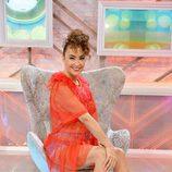 Cristina Rodríguez, en su silla 'Cámbiame', promocionando la tercera temporada