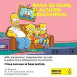 """Amnistía Internacional """"elimina"""" a Marge Simpson en su nueva campaña"""