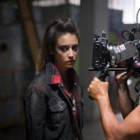 María Pedraza en el rodaje de 'Si fueras tú'
