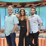 Lara Álvarez junto a Dani Martínez y Florentino Fernández en 'Dani&Flo'