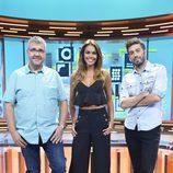 Lara Álvarez, nueva presentadora de 'Dani&Flo', posa junto a Dani Martínez y Florentino Fernández