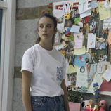 María Pedraza junto a las fotos y mensajes de la niña desaparecida en 'Si fueras tú'