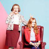 Carlos Santos y María Castro en las fotos promocionales de 'Ella es tu padre'