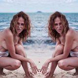 Antonia San Juan sorprende con un topless en la playa