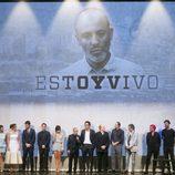 Los actores de 'Estoy vivo' junto a Pau Donés en la IX edición del FesTVal