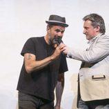 Pau Donés y Joseba Fiestras en el estreno de 'Estoy vivo'