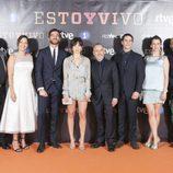 Pose del equipo de 'Estoy vivo' en el photocall de la IX edición del FesTVal