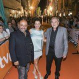 Jesús Castejón, Goizalde Núñez y Zorion Eguileor, juntos en el estreno de 'Estoy vivo' en el FesTVal
