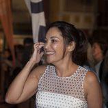 Cristina Plazas se muestra sonriente en el estreno de 'Estoy vivo' en el FesTVal